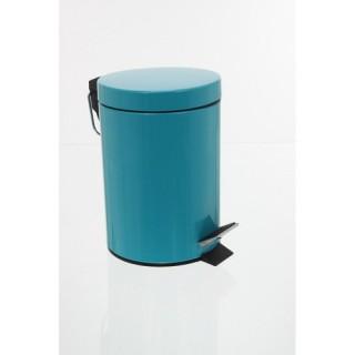 Poubelle en métal - Turquoise