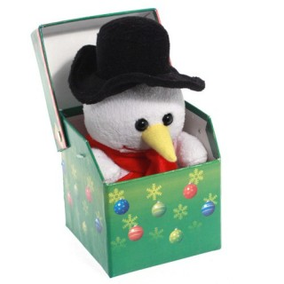 Peluche de noël en boîte lumineuse Fun - Pingouin