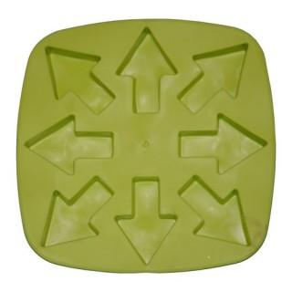 Bac à glaçons en silicone - Flèches - Vert