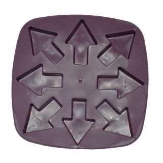Bac à glaçons en silicone - Flèches - Prune