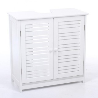 Meuble de lavabo - Bois - Blanc
