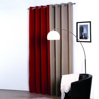 Rideau occultant Satin - 140 x 260 cm - Rouge