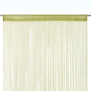 Rideau ruban Fil - 90 x 200 cm - Vert anis