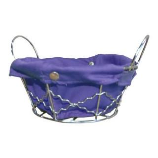 Panier multi-usages Rond - Metal et coton - Violet