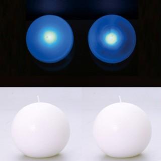 2 Lampes perles et bougies boule blanc