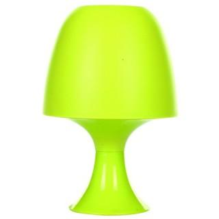 Lampe champignon rétro et ampoule - Plastique - Vert