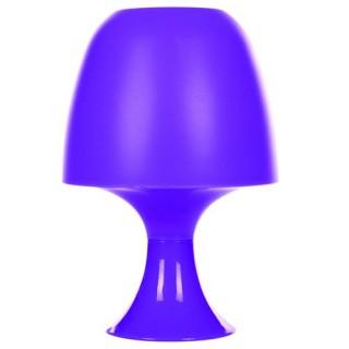 Lampe champignon rétro et ampoule - Plastique - Violet