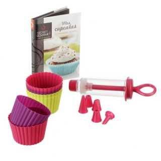 Coffret Cupcake et livre de recettes