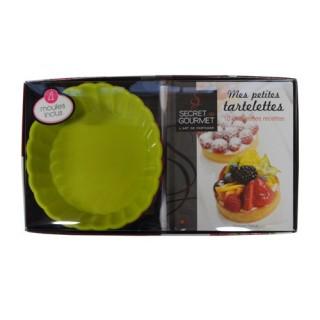 Coffret 4 Moules et livre de recettes - Tartelettes