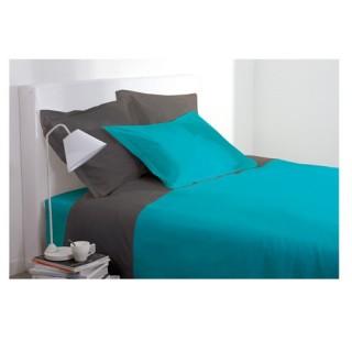 Drap housse - 140 x 190 cm - Turquoise