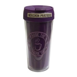 Mug isolant Pause Thé Café - 400 ml - Violet