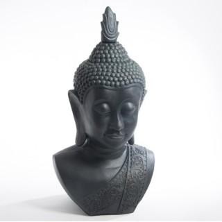 Statue Tête de Bouddha - H. 1,13 m. - Pierre