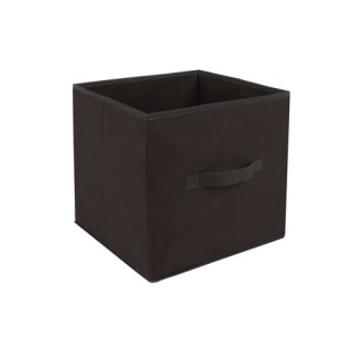 Boîte de rangement pour meuble - 31 x 31 cm - Noir
