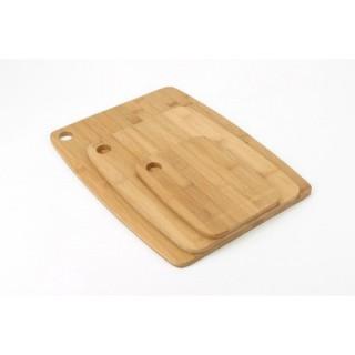 3 planches à découper en bambou
