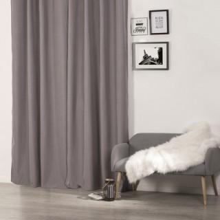 Rideau isolant - 140 x 260 cm. - Polyester - Gris