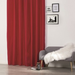 Rideau isolant - 140 x 260 cm. - Polyester - Rouge