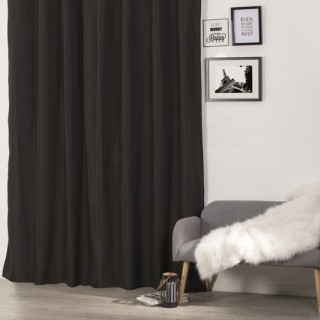 Rideau isolant - 140 x 260 cm. - Polyester - Noir