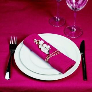 4 Serviettes de table - Coton - Rose