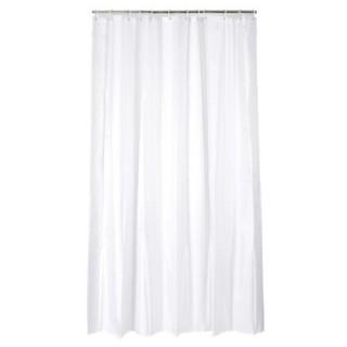 Rideau de douche - Polyester - Blanc