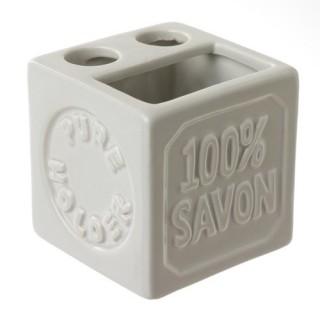 Porte brosse à dents 100% savon - Céramique - Beige