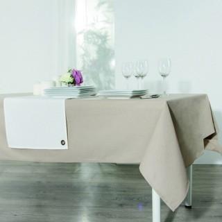 Nappe anti-taches Coton - 150 x 150 cm. - Couleur lin