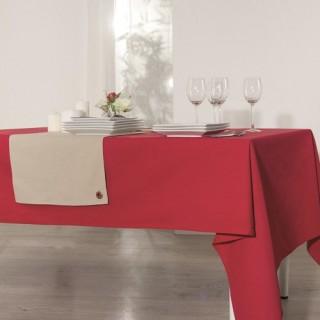 Nappe anti-taches Coton - 150 x 150 cm. - Rouge