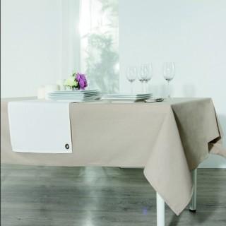 Nappe anti-taches Coton - 140 x 240 cm. - Couleur lin