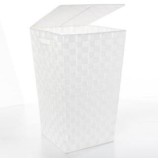 Panier à linge - Polyester tressé - Blanc