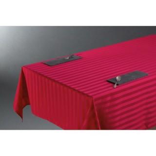 Nappe Jacquard Rayure - 150 x 300 cm - Rouge