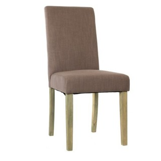 Chaise de salon Cleva - Lin - Taupe