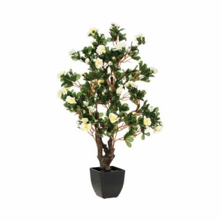 Azalée artificielle en pot - H. 81 cm - Blanc