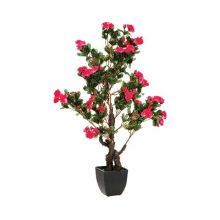 Azalée artificielle en pot - H. 81 cm - Rose