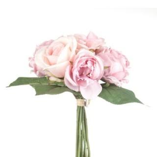 Bouquet de Roses artificielles Anciennes - H. 30 cm