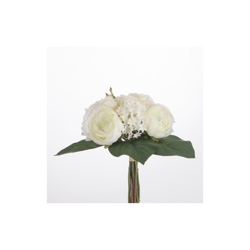 bouquet de fleurs artificielles blanches h 30 cm. Black Bedroom Furniture Sets. Home Design Ideas