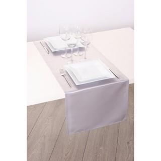 Chemin de table Satin - 140 x 40 cm - Blanc