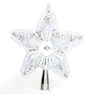 Cimier pour sapin de Noël - H. 23 cm - Blanc