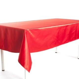 Nappe Satin - 140 x 140 cm - Rouge