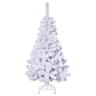 Sapin de Noël artificiel 100% Floqué - H. 150 cm - Blanc