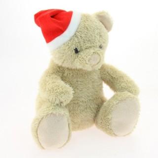 Peluche de Noël Ourson - H. 25 cm