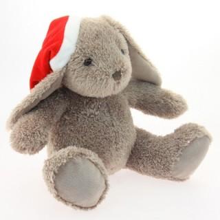 Peluche de Noël Lapin - H. 25 cm