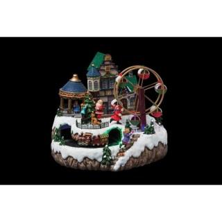 Village de Noël Grande roue - Animé