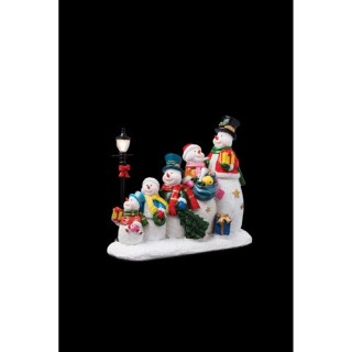 Santons lumineux de Noël - 6 Bonhommes de neige