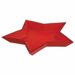 Plateau de présentation Etoile - Rouge