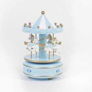 Carrousel musical - Bois - Bleu