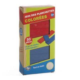 Jeu de construction Planchettes - 50 Planchettes colorées