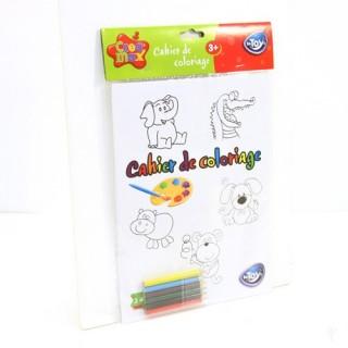 Cahier de coloriage et 6 Crayons de couleur