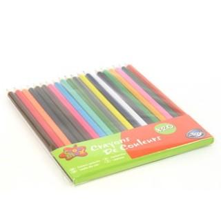 20 Crayons de couleur