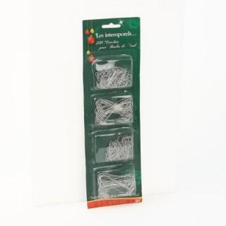 300 Crochets pour décorations de Noël - Gris