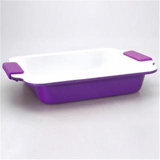 Moule à cake Carré - Céramique - Violet