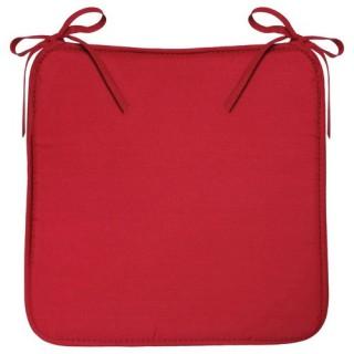 Galette de chaise Microfibres - 39 x 39 cm - Rouge